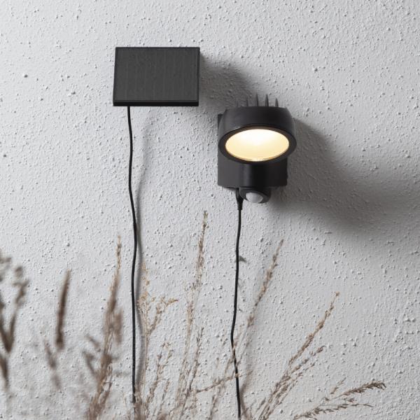"""LED Solar Strahler """"Powerspot"""" - warmweiß - 150lm - mit Bewegungsmelder und Lichtsensor - H: 19cm"""
