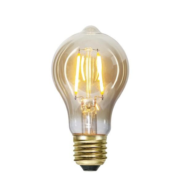 LED Leuchtmittel FILA GLOW A60 - Tropfenlampe E27 - 0,75W - ultra WW 2000K - 80lm - amber