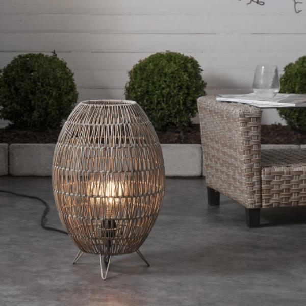 Dekoleuchte/Lampenschirm - D: 30cm, H: 46cm - für E27 Fassungen - outdoor - beige
