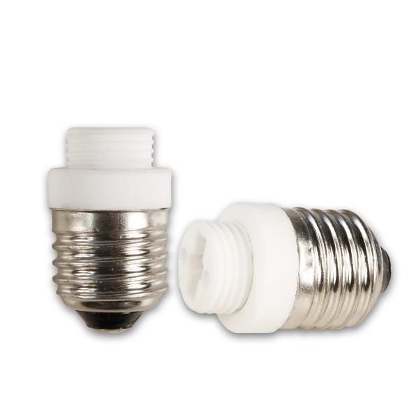 Lampensockel Adapter für Leuchtmittel - Porzellan - max 100W - E27 auf G9