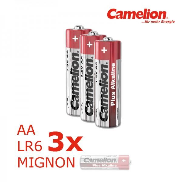 Batterie Mignon AA LR6 1,5V PLUS Alkaline - Leistung auf Dauer - 3 Stück