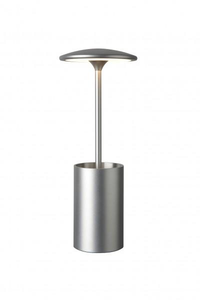 Tischleuchte LED POTT silber - mit Stifteköcher - Ideal für Büro - 7W, 3000K, 455lm - 29cm