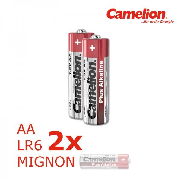 Batterie Mignon AA LR6 1,5V PLUS Alkaline - Leistung auf Dauer - 2 Stück