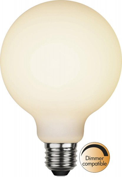LED DEKO Leuchtmittel G95 - OPAL - soft-touch - E27 - D: 95mm - 5W - 2600K - 400lm - dimmbar