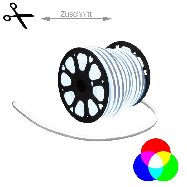 LED Lichtschlauch NEON FLEX 230V Slim - RGB - 100cm Zuschnitt - Anfertigung nach Mass