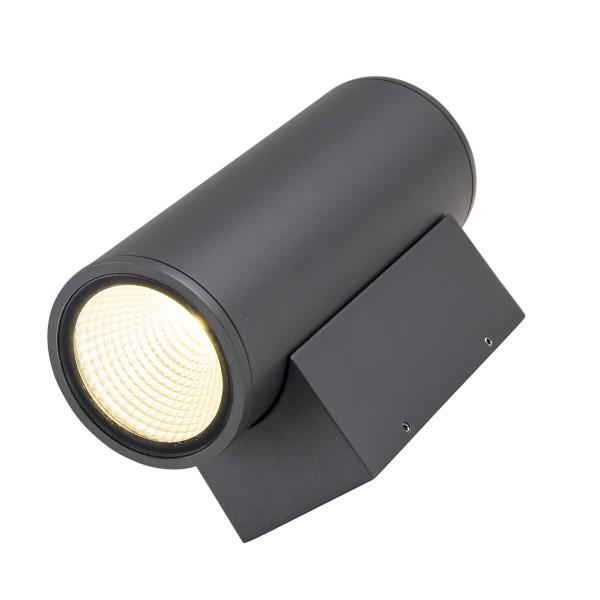 Wandleuchte DOBLE 2 - CREE COB LED - 3000K - 46° - 24W - IP54 - anthrazit - Fassadenleuchte