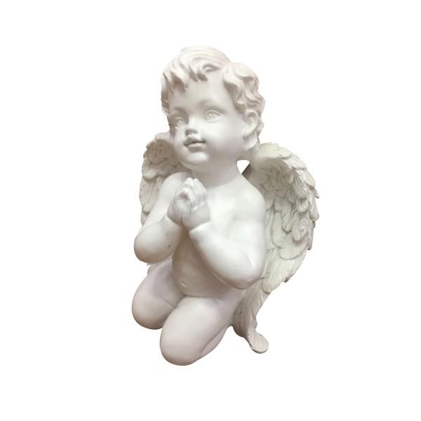 Engel kniend und betend - weiss - 22 x 15 x 10,5cm