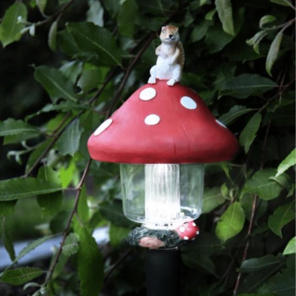 LED Solar Pilzlaterne - kaltweiße LED - Höhe: 45cm, D: 16cm