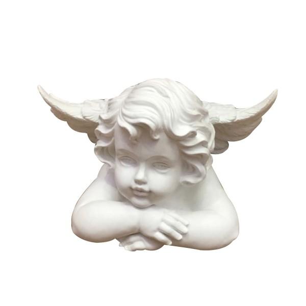 Engel liegend - weiss - 28 x 17 x 17cm