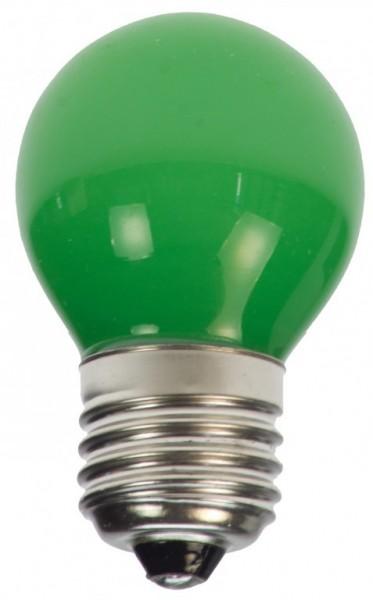 LED-Leuchtmittel - EEK: B - Round Line - E27 - 1W LED - Grün