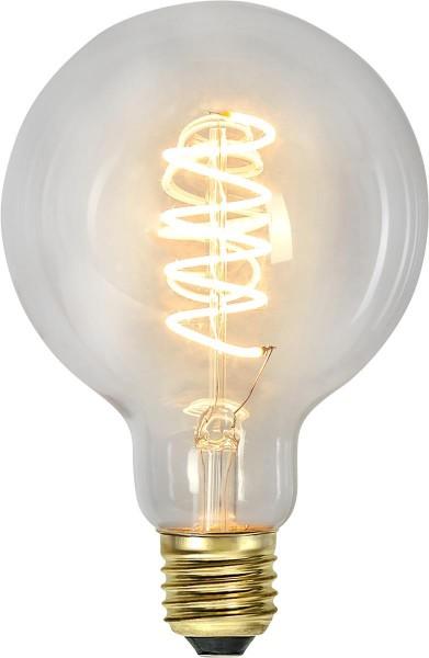 Leuchtmittel   LED   Filament   SPIRAL   DEKORATION   E27   Dimmbar   Kugel   Ø144mm   Clear Glas