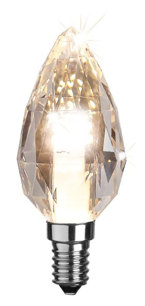 LED Kerzenlampe DIAMOND 28 SMD LED - E14 - 2W - warmweiss 2700K - 170lm - dimmbar