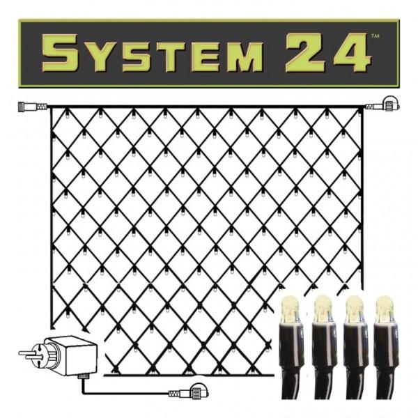 System 24   LED-Lichternetz   koppelbar   inkl. Trafo   2.00 x 2.00m   140x Warmweiß