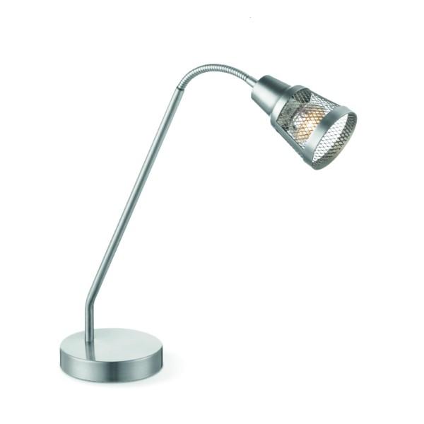 Tischlampe SOLO - Stahl matt - GU10 Fassung - Flexibler Kopf - max 35W