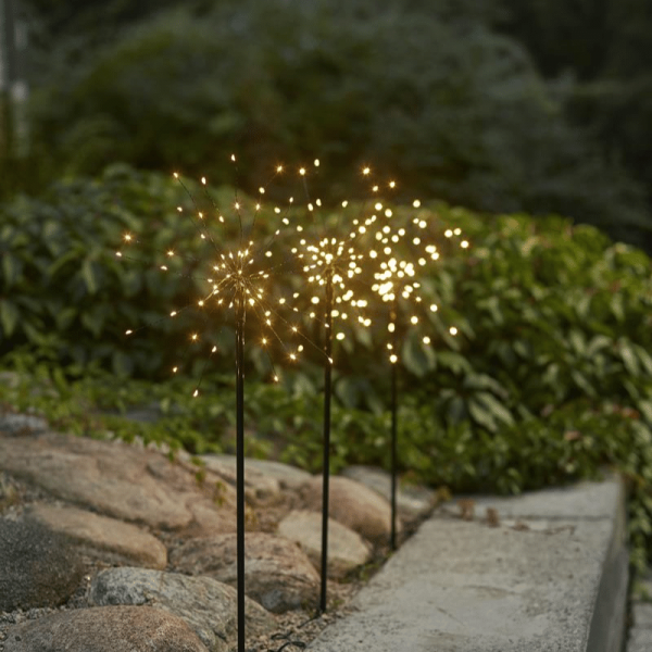 "LED Dekostäbe ""Firework"" - H: 65cm - je 60 warmweiße LED"