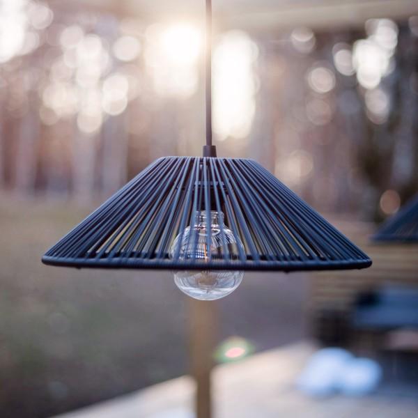 Lampenschirm VIDE wetterfest - für E27 Fassungen - schwarz - D: 38cm - H: 12cm