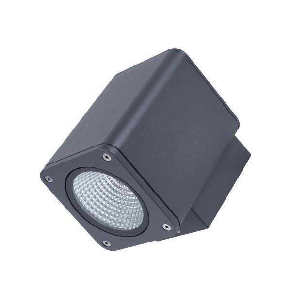 Wandleuchte TOCHO 1 - CREE COB LED - 3000K - 46° - 13W - IP54 - anthrazit - Fassadenleuchte
