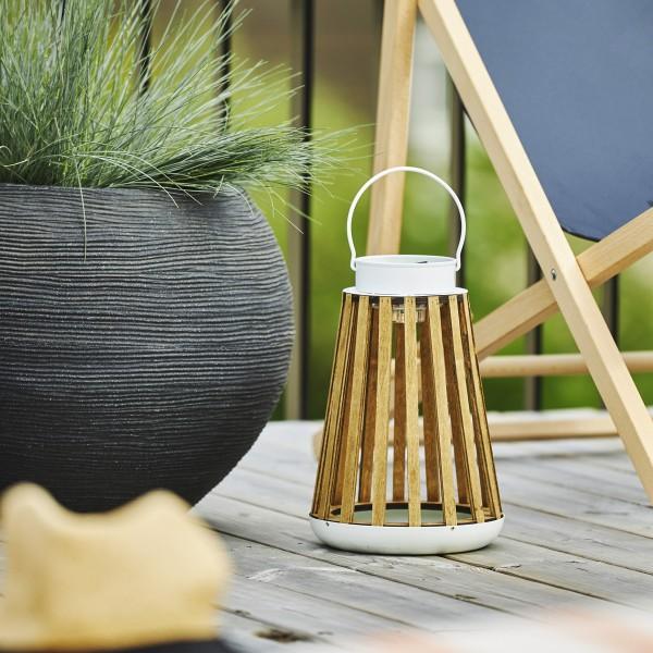 LED  Solar Laterne CATANIA - zum Hängen & Stellen - warmweiße LED - H: 28cm - Lichtsensor - outdoor