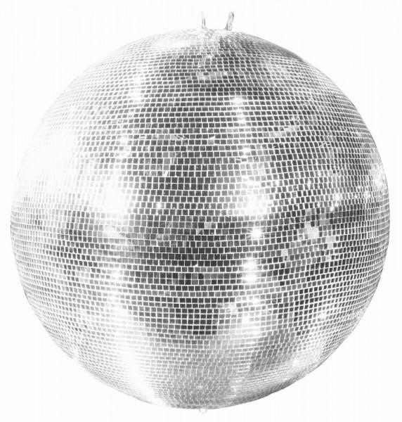 Spiegelkugel 150cm silber chrom- Diskokugel (Discokugel) Party Lichteffekt - Echtglas - mirrorball safety silver chrome color