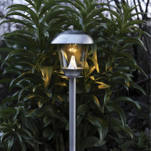 "LED Solar Wegleuchte ""Napoli"" - Edelstahl - warmweiße LED - H: 66cm"