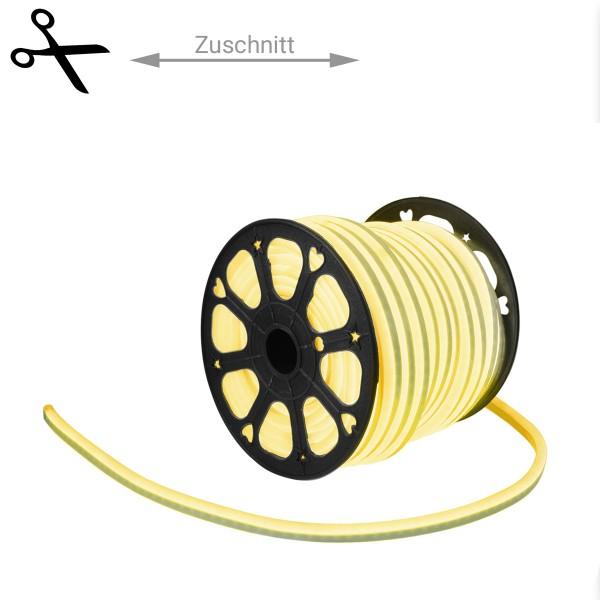 LED Lichtschlauch NEON FLEX 230V Slim - GELB - 100cm Zuschnitt - Anfertigung nach Mass