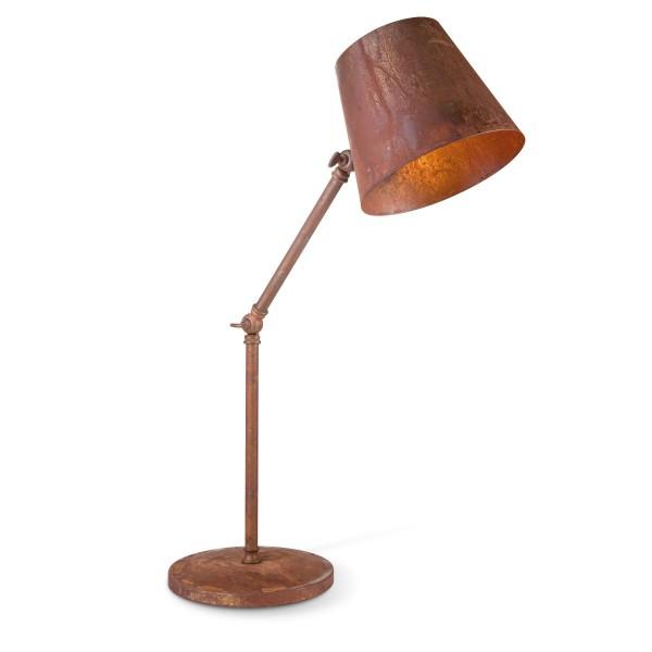 Tischlampe RUSTY - beweglich max 58cm hoch - E27 - industrielles Rost-Design