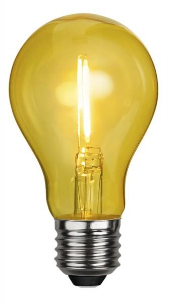 LED Leuchtmittel DEKOPARTY gelb - klar - A60 - E27 - 1W - 51lm