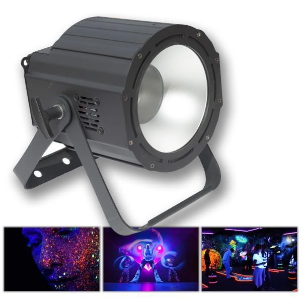UV COB Cannon - Hochleistungs Schwarzlichtfluter 100W - DMX - flickerfrei