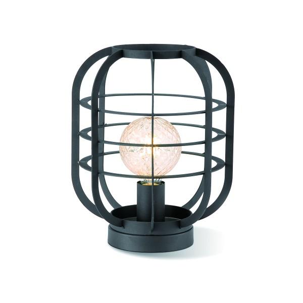 Tischlampe / Bodenlampe für LED Filament Stableuchte - schwarz - E27 - 30cm