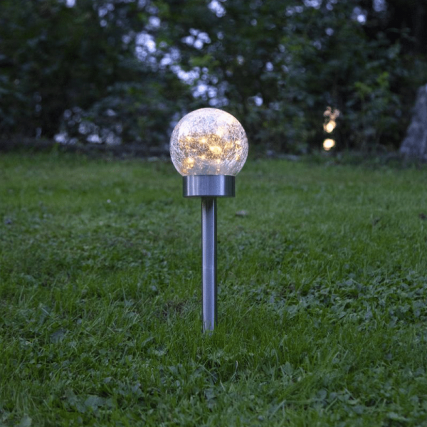 "LED Solar Dekoleuchte 3in1 ""Glory"" - 10 warmweise LED - H: 35cm - Dämmerungssensor"