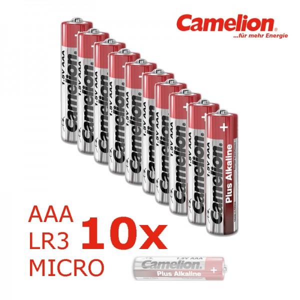 Batterie Mignon AAA LR3 1,5V PLUS Alkaline - Leistung auf Dauer - 10 Stück
