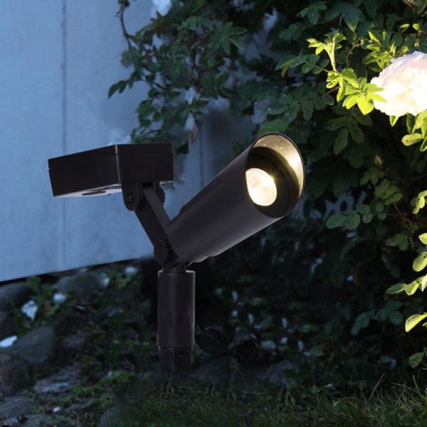 LED Gartenspieß mit Solarfeld - 2er Set - Dämmerungssensor