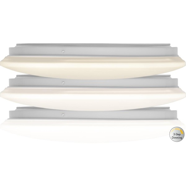 "LED Deckenleuchte ""Inegra"" - D: 33cm - 18 warmweiße LED - 3000K - 1200lm - dimmbar - weiß"