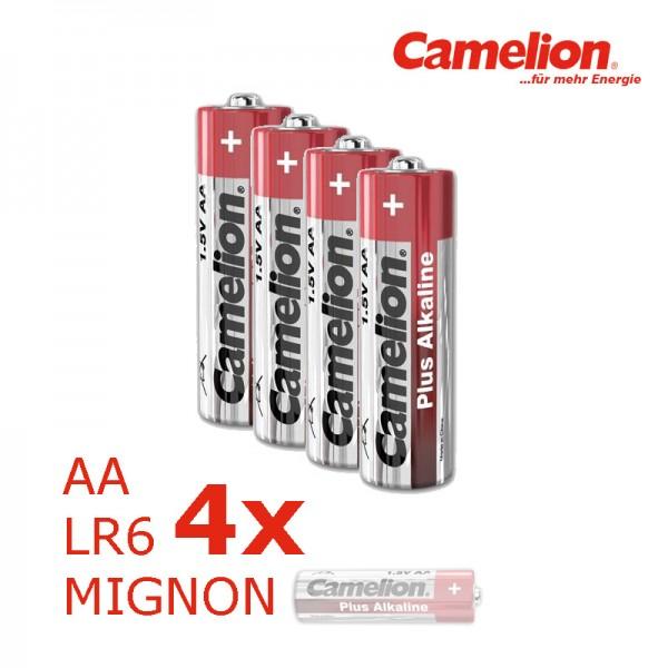 Batterie Mignon AA LR6 1,5V PLUS Alkaline - Leistung auf Dauer - 4 Stück