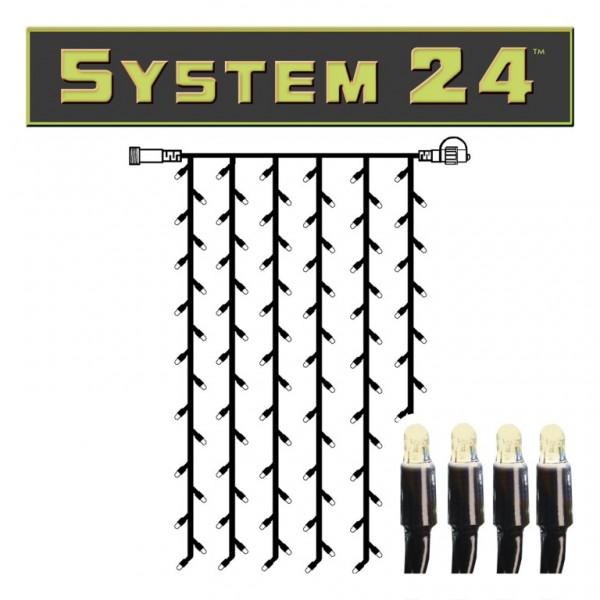 System 24 | LED-Lichtvorhang | koppelbar | exkl. Trafo | 1.00m x 2.00m | 98x Warmweiß