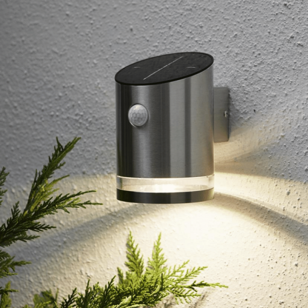 """B-Ware LED Solar Wandleuchte """"Venice"""" - 4 warmweiße LED - H: 15cm - Bewegungs- & Dämmerungssensor - 65lm"""