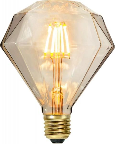LED DEKO Leuchtmittel DIAMANT - E27 - 1,65W - warmweiss 2200K - 100lm - dimmbar