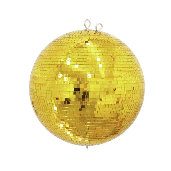 Spiegelkugel 30cm farbig gold- Diskokugel (Discokugel) Party Lichteffekt - Echtglas - mirrorball gold color