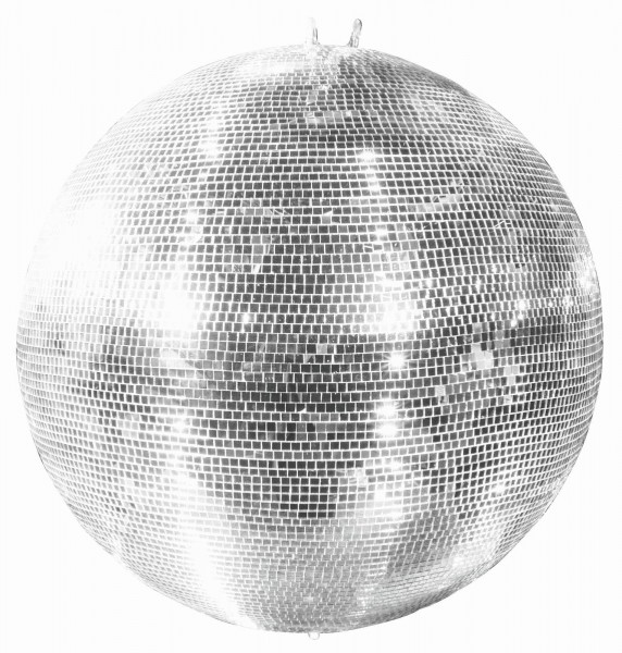 Spiegelkugel 100cm silber chrom- Diskokugel (Discokugel) Party Lichteffekt - Echtglas - mirrorball safety silver chrome color