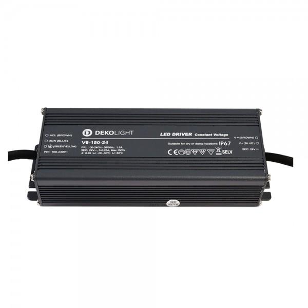 LED Netzteil / Treiber DEKOLIGHT V6-150-24 - CV - IP67 - 24V - 150W