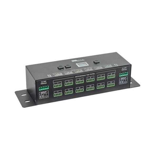 PWM LED Dimmer mit 12 Kanälen - Konstante Spannung 12 bis 24V - 12 x 4 Kanäle