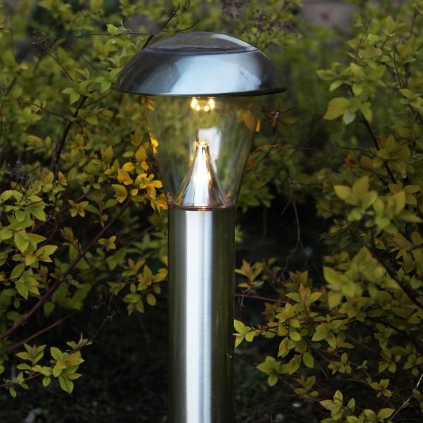 "LED Solar Wegleuchte ""Napoli"" - Edelstahl - warmweiße LED - H: 36cm"
