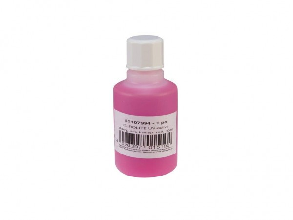UV -aktive Stemppelfarbe - transparent rot - 50ml