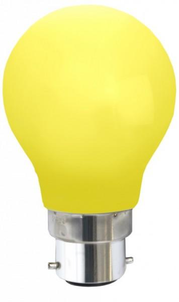 Decoline - LED Leuchtmittel - B22 - 0,7W LED - Gelb