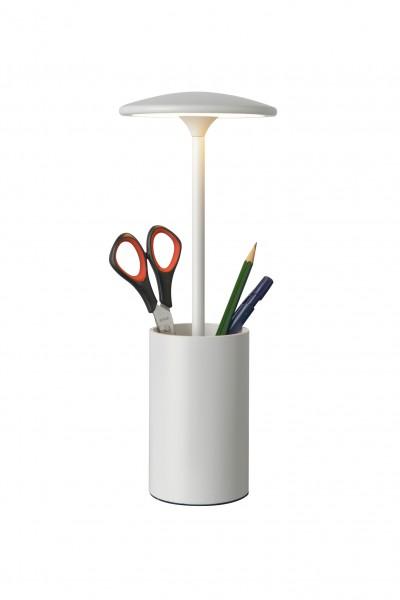 Tischleuchte LED POTT weiß - mit Stifteköcher - Ideal für Büro - 7W, 3000K, 455lm - 29cm