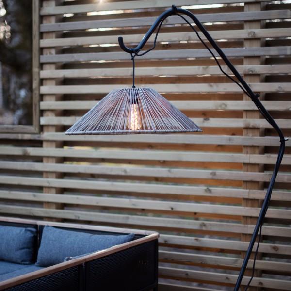 Lampenschirm VIDE wetterfest - für E27 Fassungen - D: 58cm - H:18,5cm - beige