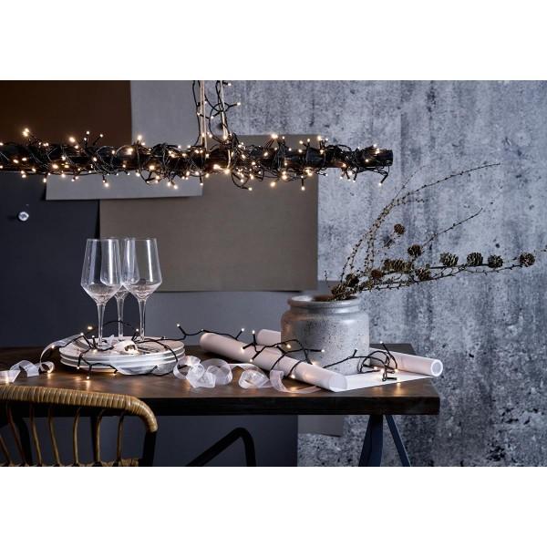 LED Lichterkette - Serie LED - outdoor - 360 kaltweiße LED - L: 25,2m - schwarzes Kabel