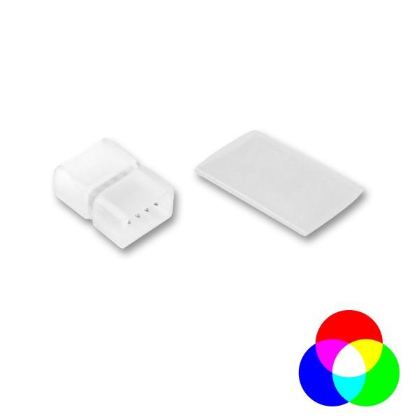 Gerader Verbinder - LED NEON FLEX 230V SLIM RGB - Anschlusskit mit Schrumpfschlauch
