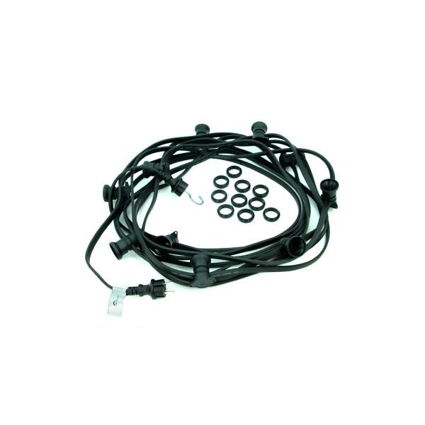 ILLU-Lichterkette 10m - 10xE27   IP44   ohne Leuchtmittel   SATISFIRE