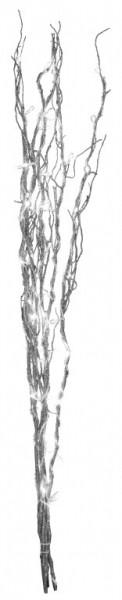 "LED Leuchtzweig ""Willow"" - silberne Weide - 60 warmweiße LED - H: 115cm - inkl. Trafo"